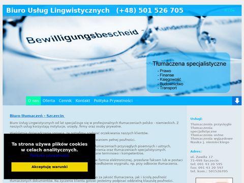 Tłumacz niemieckiego Szczecin