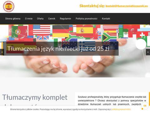 Tumaczeniahiszpanski.eu