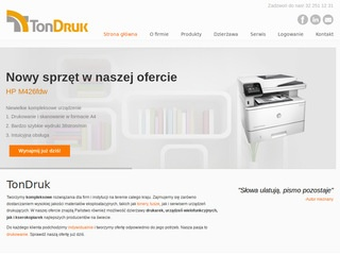 TonDruk - serwis drukarek, wynajem kserokopiarek