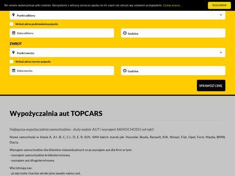 Wynajem samochodów w mieście Warszawa topcars24.pl
