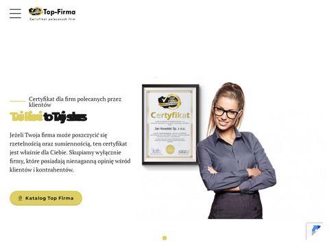 Top-firma.pl certyfikat