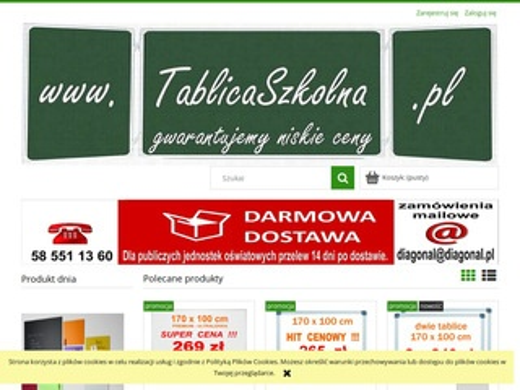 Diagonal meble szkolne, tablice zielone