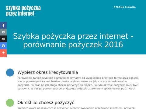 Taniaszybkapozyczka.pl szybkie pożyczki w internecie
