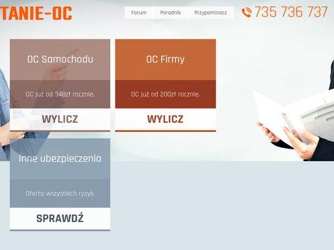 Tanie-oc.pl agencja ubezpieczeniowa