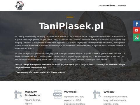 Tanipiasek.pl firma transportowa Grodzisk