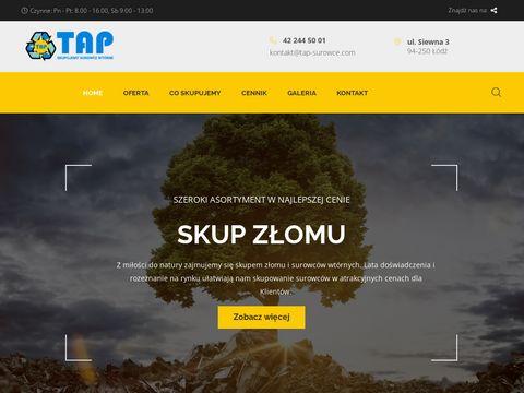 Tap-surowce.com skup złomu Łódź