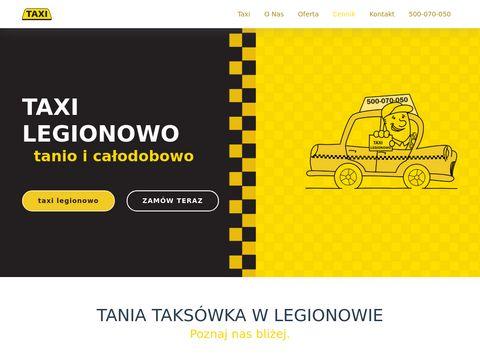 Taxilegionowo.pl tanio i całodobowo