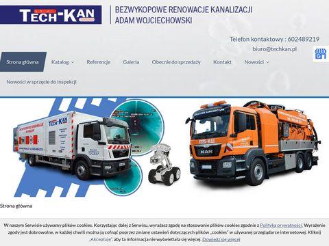Techkan.pl bezwykopowe renowacje kanałów