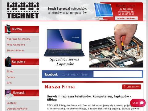 Technet.elblag.pl komputery, serwis GSM