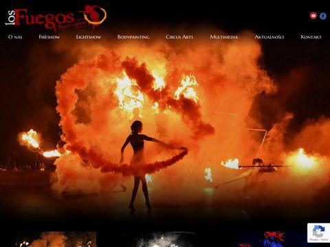 Teatrognia.com Los Fuegos - pokazy fireshow, uv