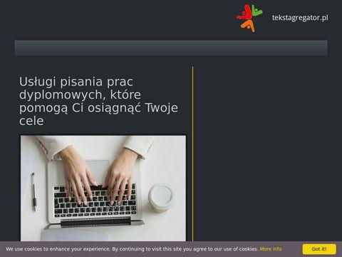 Tekstagregator.pl wspieramy pisanie prac