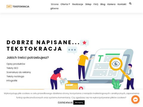 Tekstokracja.pl copywriting Warszawa