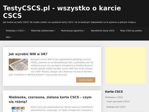 Testycscs.pl karta