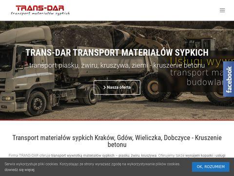 Trans-dar.pl przewóz kruszywa i piasku