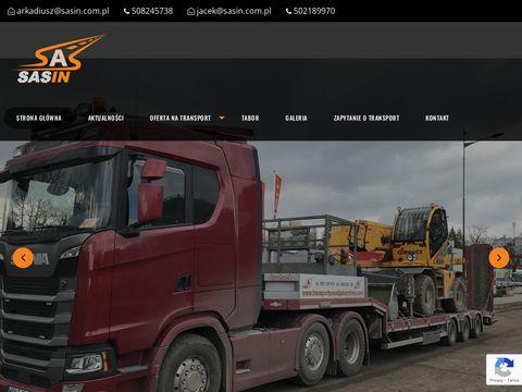 Sasin transport maszyn budowlanych