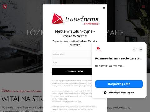 Transforms.pl - mechanizm do łóżka w szafie
