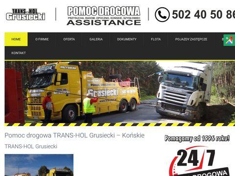 Transhol.pl całodobowa pomoc drogowa