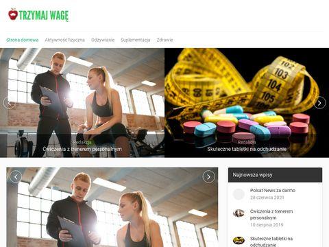 Trzymajwage.com.pl - Tabletki na odchudzanie