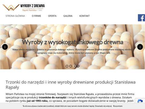 Trzonkidrewniane.pl S Rąpała styliska do siekier