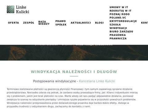 Windykacyjnakancelaria.pl adwokacka Warszawa