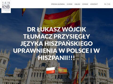 Wojcik-tlumacz.pl przysięgły języka hiszpańskiego