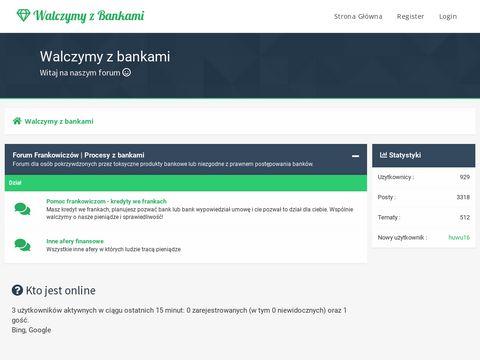 Walczymyzbankami.pl kredyty we frankach