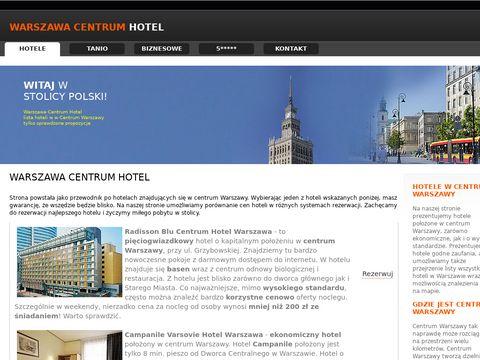 Hotele w centrum Warszawy