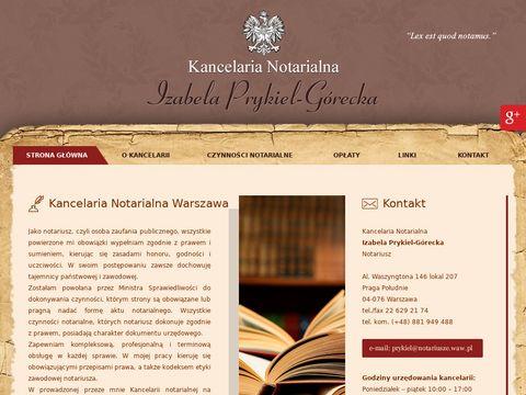 Izabela Prykiel-Górecka notariusz Warszawa