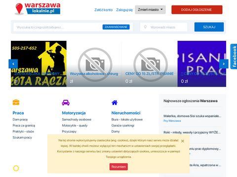 Ogłoszenia praca, nieruchomości w Warszawie