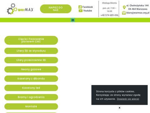 Warmax - reklama świetlna w Warszawie