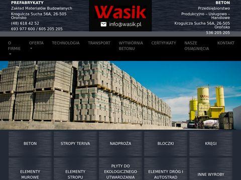 Wasik.pl betoniarnia - wysoka jakość, Starachowice