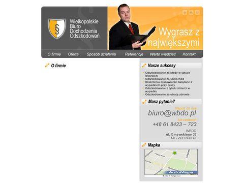 Wbdo.pl odszkodowania za wypadki komunikacyjne