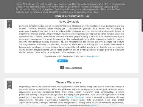 Wesela Warszawa blog