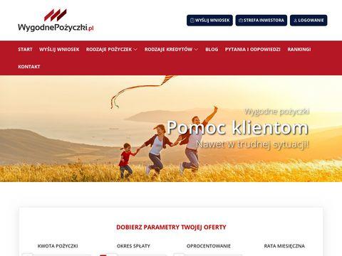 Wygodnepozyczki.pl dla zadłużonych