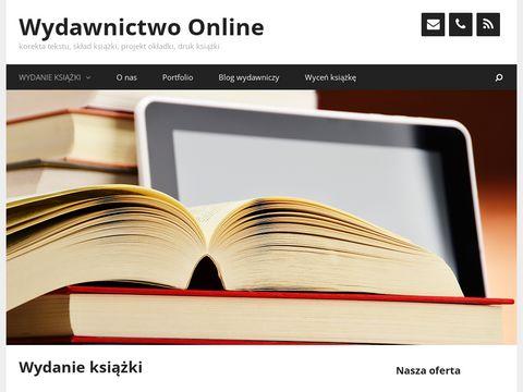 Wydawnictwo-online.pl korekta, skład, druk