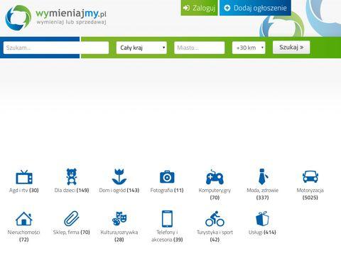 Wymieniajmy.pl - portal z wymianami online