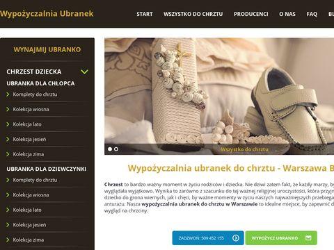 Wypozyczalniaubranek.pl do chrztu