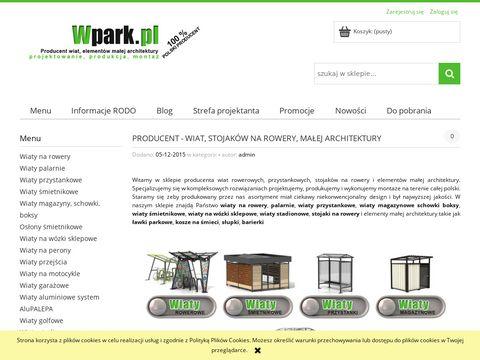 Wpark.pl - wiaty śmietnikowe