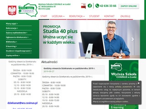 Ćwiczenia z przedmiotu ws.cosinus.pl