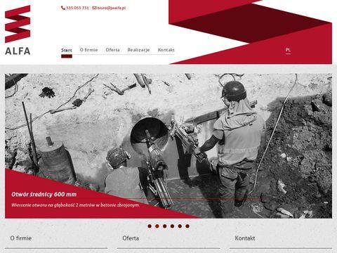 JW Alfa - cięcie w betonie
