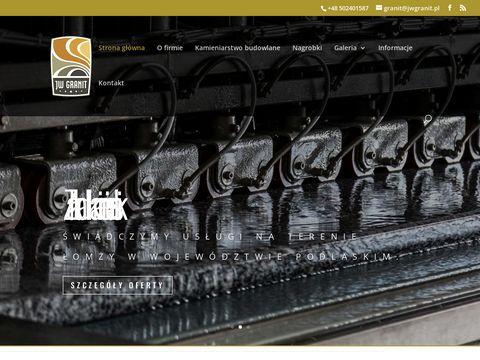 JW Granit. Zakład kamieniarski Parapety Łomża