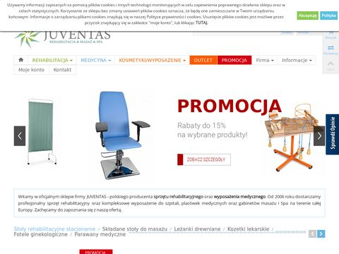 Juventas.pl stół do masażu wygodny dla klienta