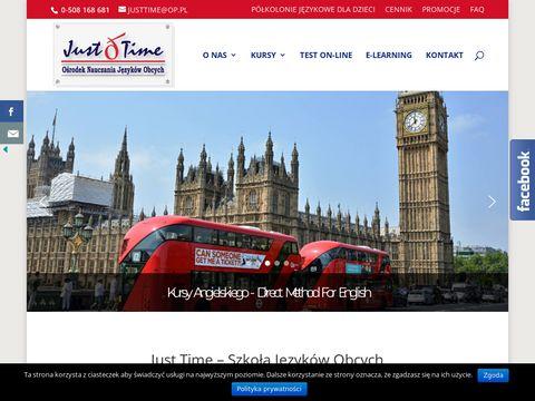 Just Time Metoda Callana Direct Method - angielski Warszawa