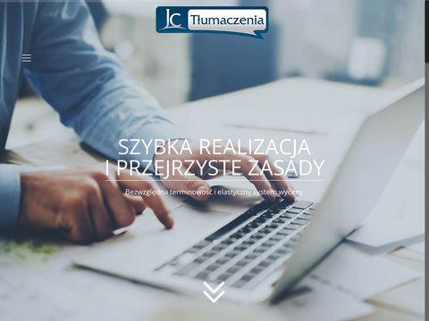 Jc-tlumaczenia.pl - profesjonalne