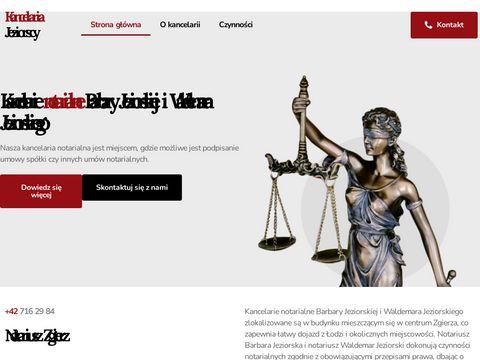Jeziorscy.com.pl usługi notarialne Zgierz