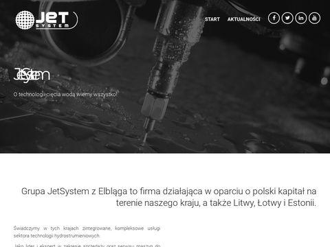Jetsystem.pl - maszyna do cięcia wodą