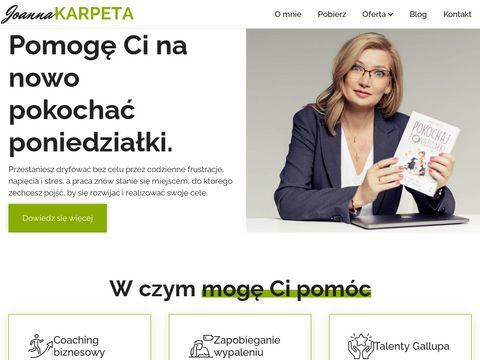 Joannakarpeta.pl coaching biznesu Warszawa