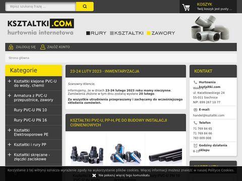 Ksztaltki.com rury zawory kleje PVC