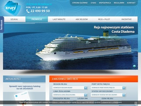 Kruzy.pl - Rejsy wycieczkowe - Rejsy online