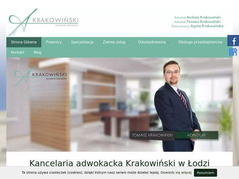Krakowinski.pl dochodzenie odszkodowań Łódź